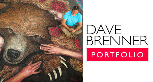 Dave Brenner Michigan chalk artist