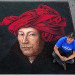 Dave Brenner chalk artist 2016 Chalktoberfest, Marietta, GA