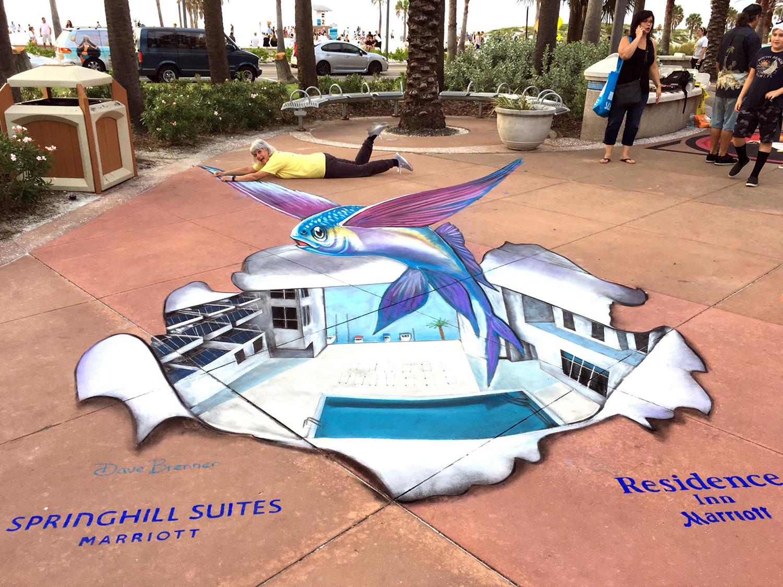 2017 Clearwater Beach Chalk Art Festival, Clearwater, FL