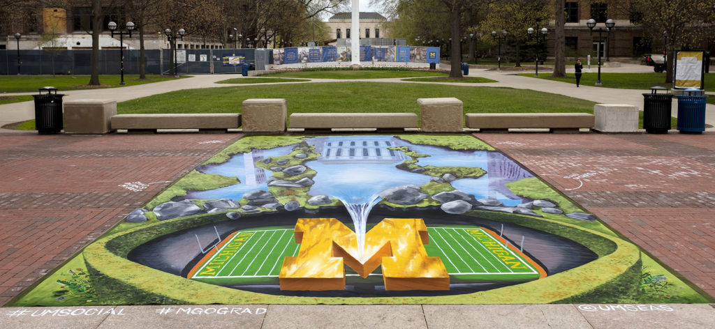 "2019 University of Michigan 3D installation ""Michigan Reflections"""